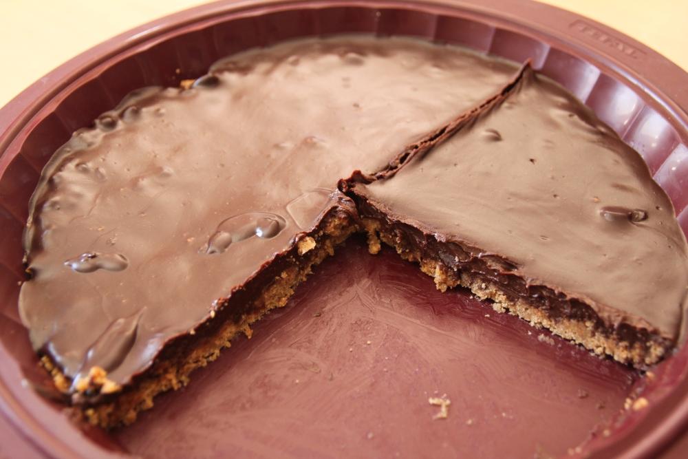 Tarte chocolat carambar sur lit de speculoos (2/2)