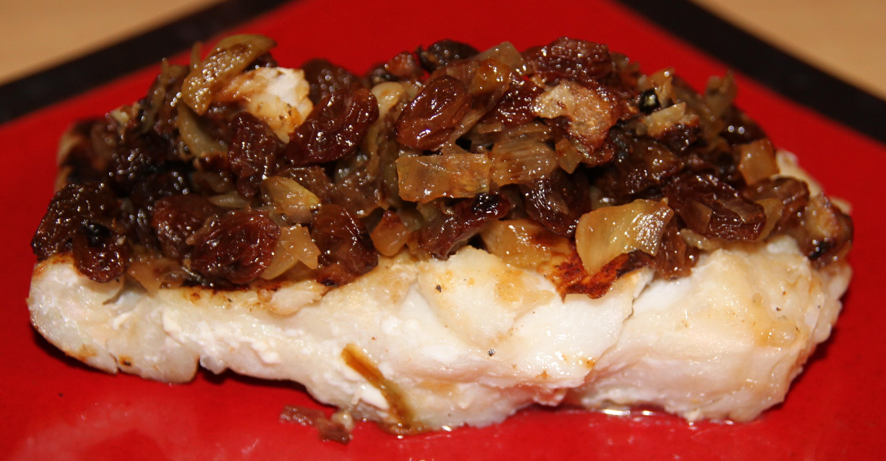 Filet de julienne et son confit d oignons aux raisins bocook - Cuisiner filet de julienne ...