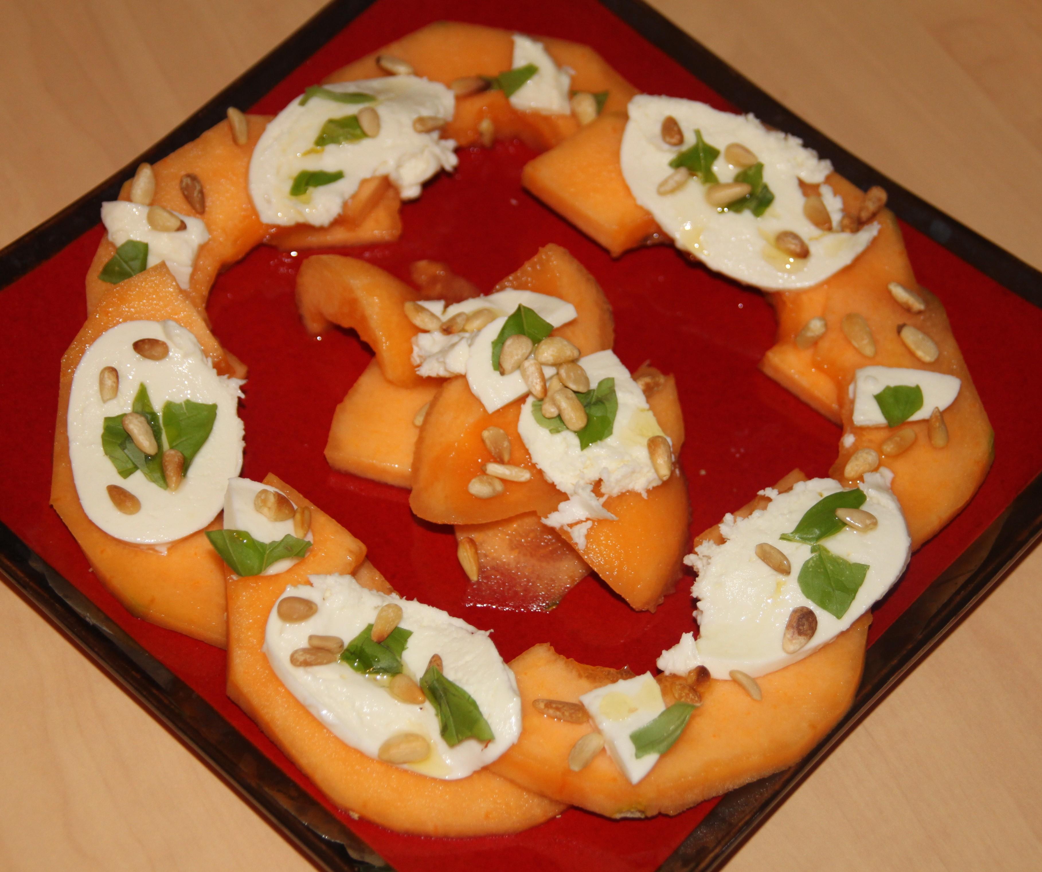 Assiette de melon à la mozzarella di Bufalla | Bocook