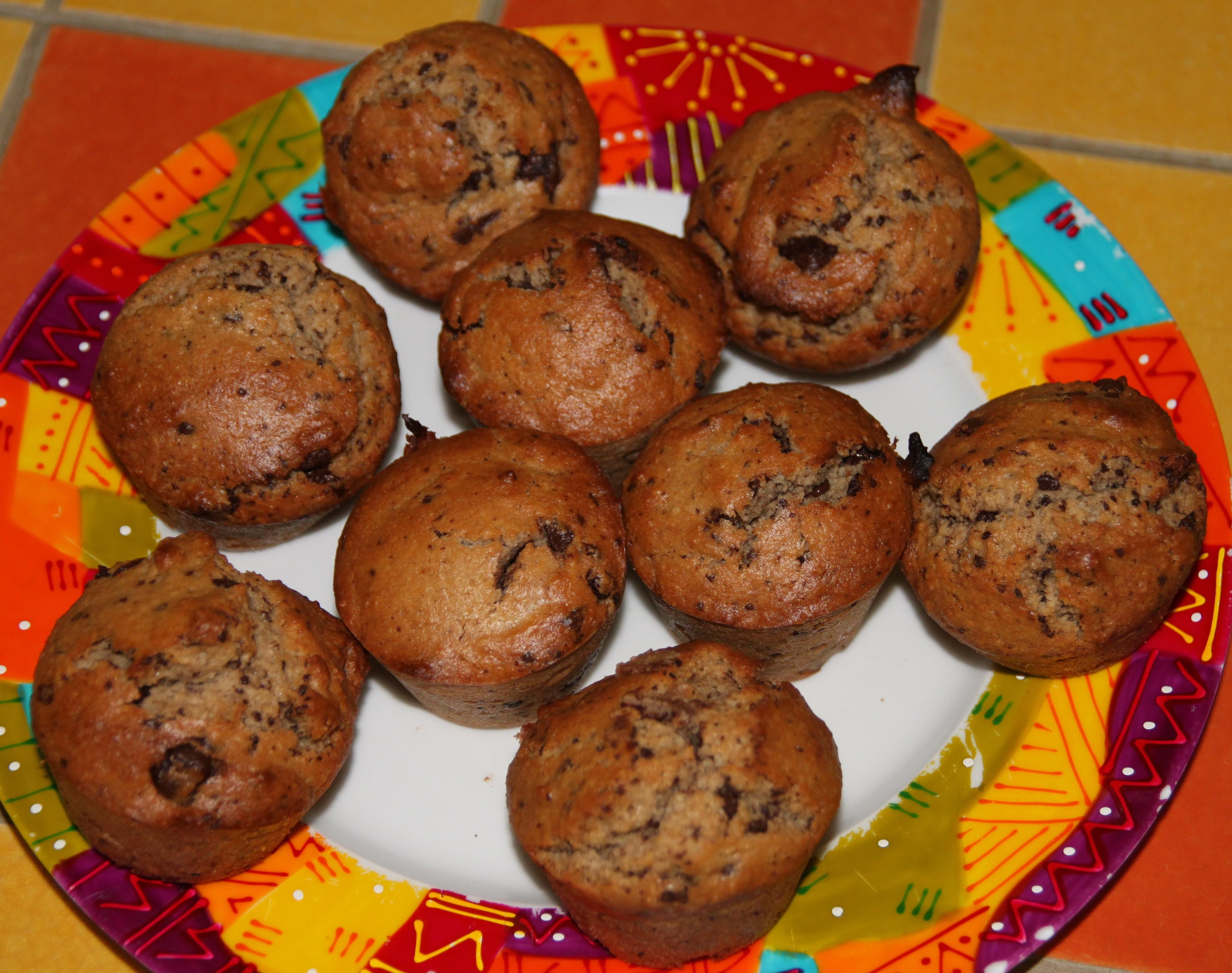 muffins ultra moelleux la poudre d amande et aux p pites de chocolat bocook. Black Bedroom Furniture Sets. Home Design Ideas