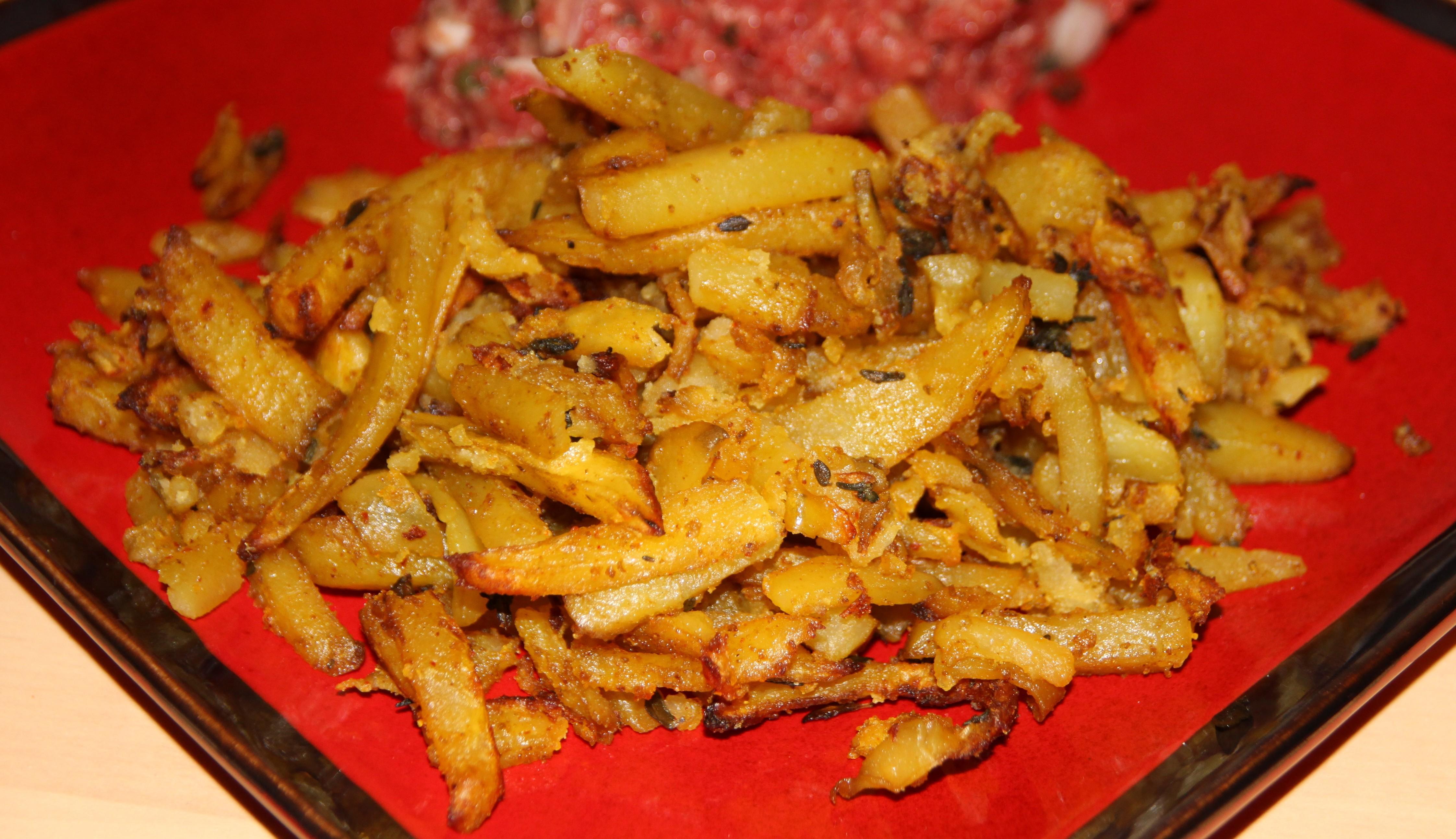 Frites maison aux pices cuites au four bocook - Frites pour friteuse au four ...