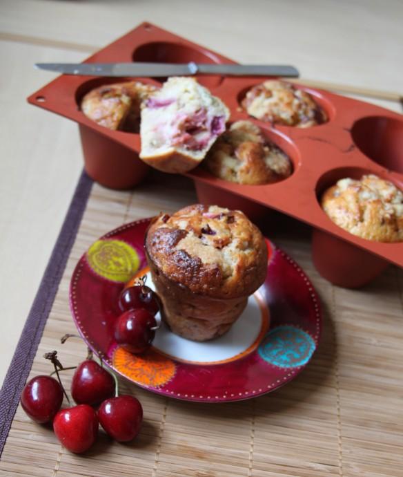 Muffin rhubarbe cerise