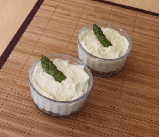 Cheesecake asperges vertes