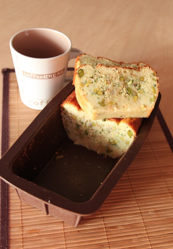 Cake courgette panais pistache