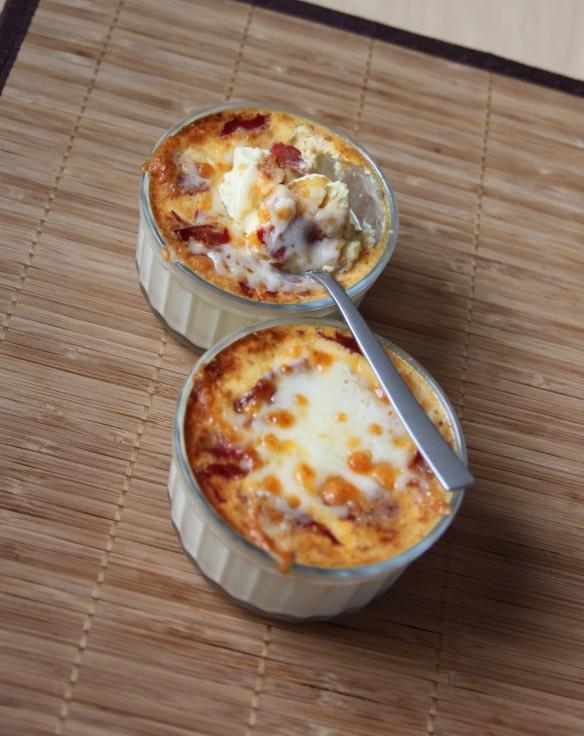 Crèmes aux oeufs chorizo brebis