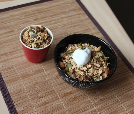 Granola fruits secs et graines
