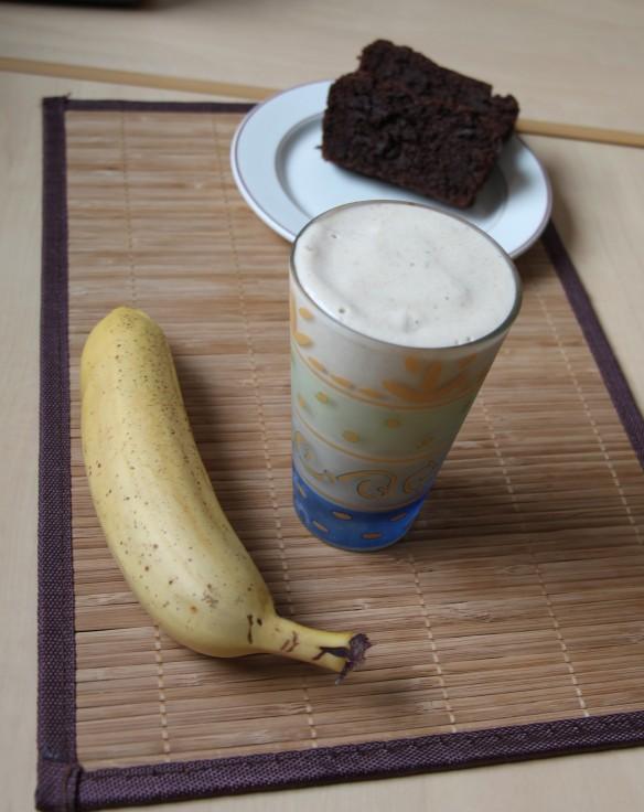Milkshake banane beurre de cacahuète