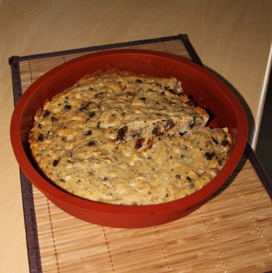 Cookies géant banane cacahuète chocolat