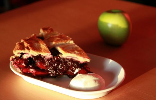 Apple cherry blueberry pie 2
