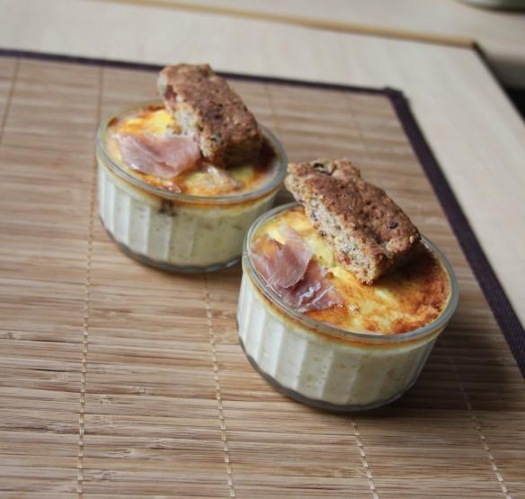 Crème aux oeufs céleri, Serrano