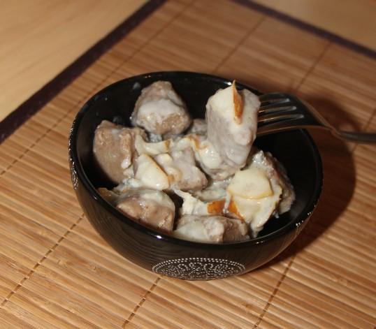 Gnocchis châtaigne gorgonzola poire