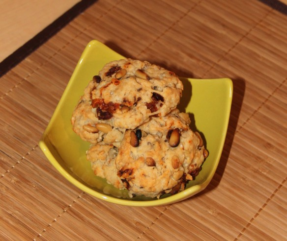 Cookies gruyère tomate confite