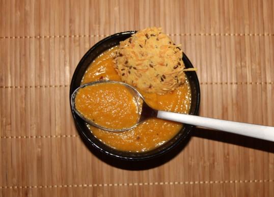 Velouté patate douce lentilles corail