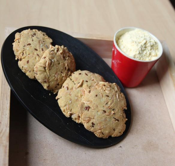 Biscuits farine de maïs et graines de lin