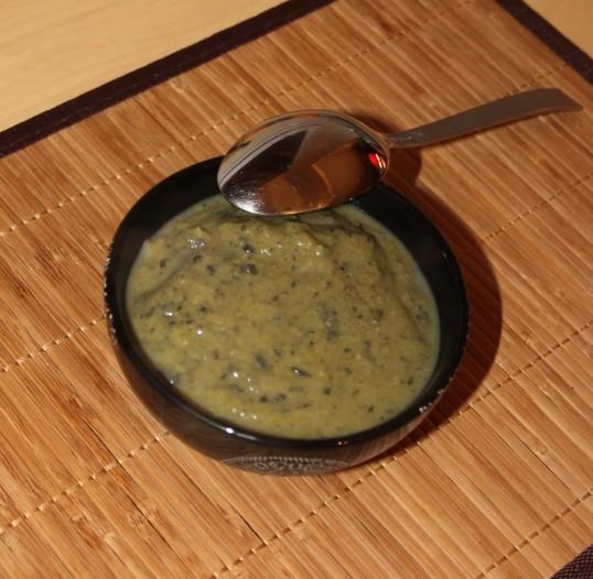 Velouté de brocoli & haricots noirs