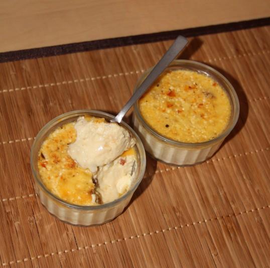 Crème aux oeufs à la raclette et tomates confites
