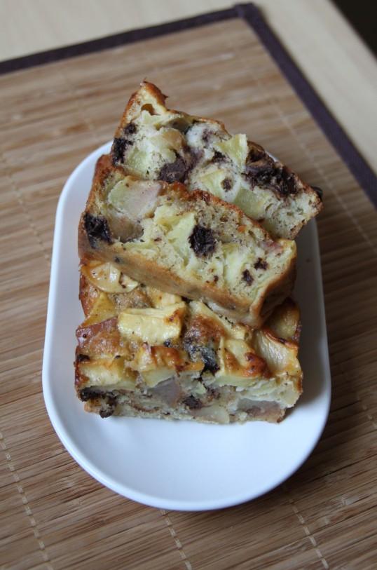 Gâteau léger aux pommes et pépites de chocolat