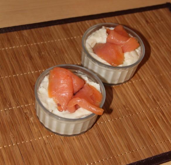 Mousseline d'artichaut au saumon fumé