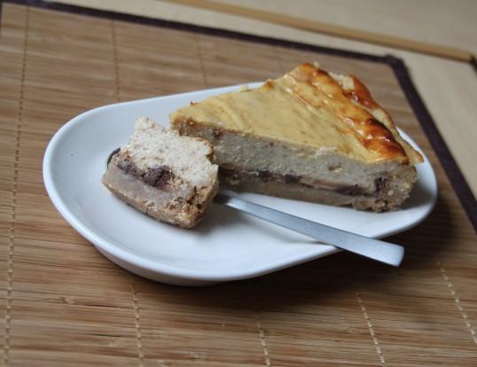 Cheesecake beurre de cacahuète & pépites de chocolat