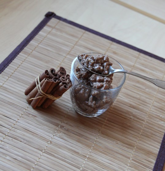 Riz au lait chocolat cannelle