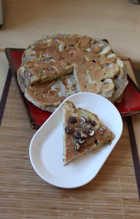 Pancakes aux pommes & farine de sarrasin