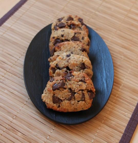 Cookies aux lentilles corail, noisettes & pépites de chocolat