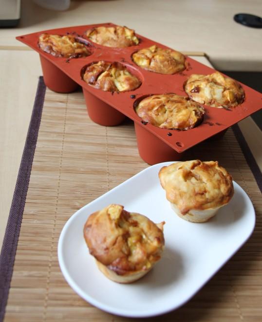 Muffins aux pommes & sauce caramel