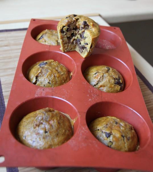Muffin au potimarron & pépites de chocolat