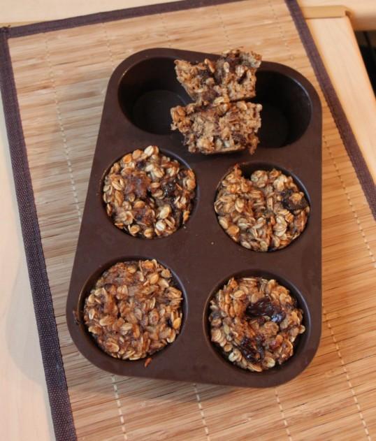 Bouchées aux flocons d'avoine, café, pépites de chocolat