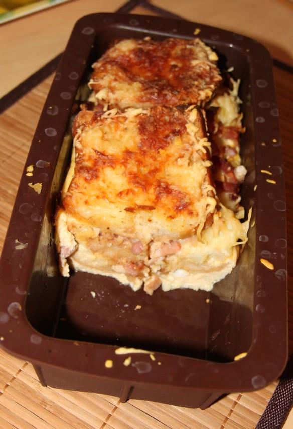 Croque-cake chou-fleur & lardons