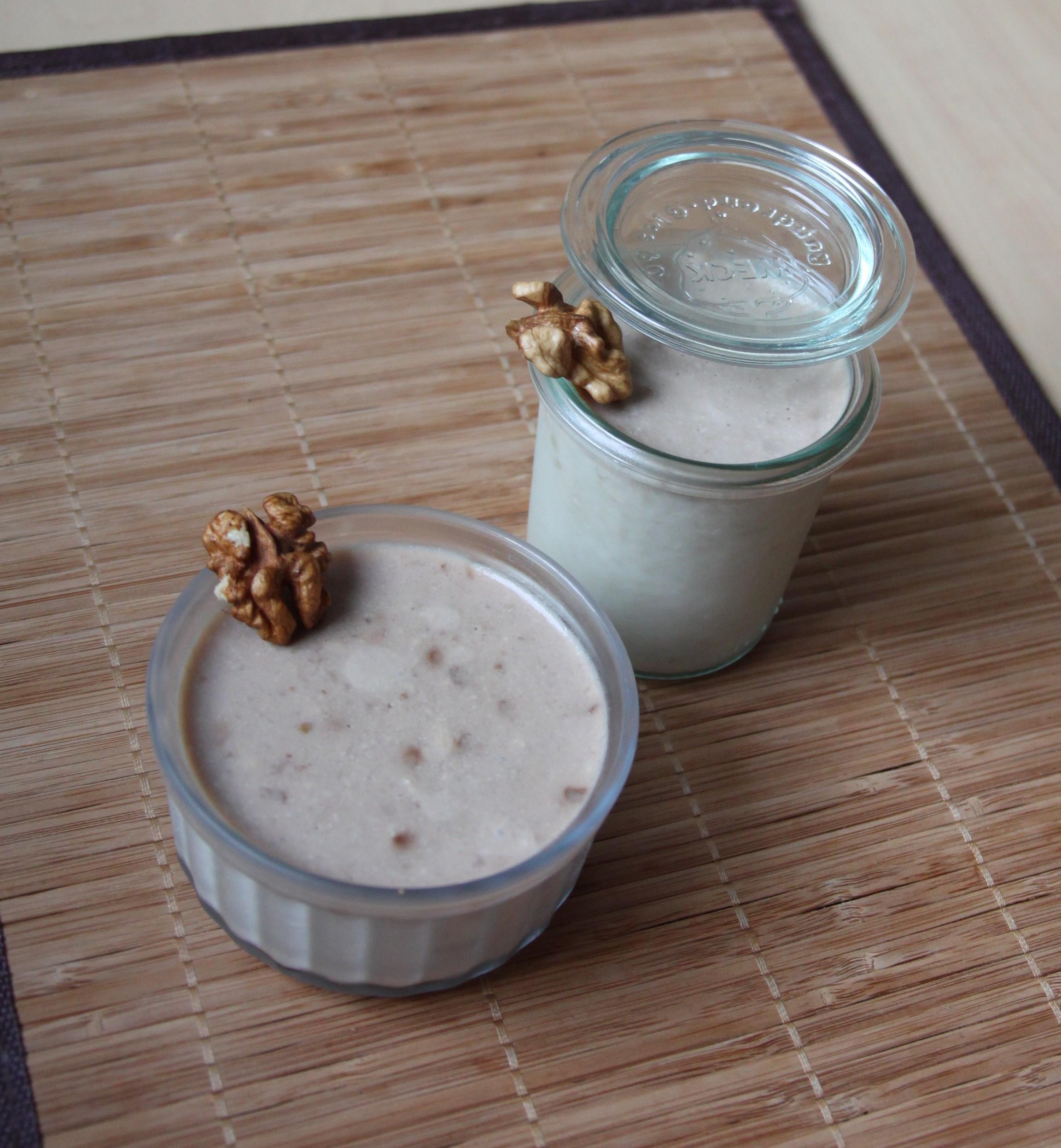 Pannacotta aux poires, roquefort & noix