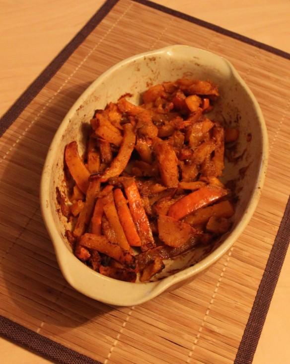 Frites de potimarron aux épices