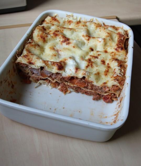 Lasagnes de porc, roquefort, carottes