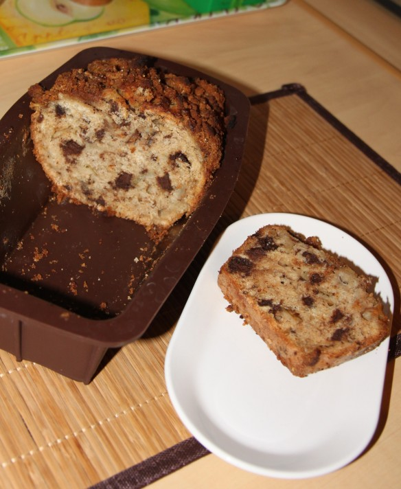 Cake croustillant aux poires, chocolat & speculoos
