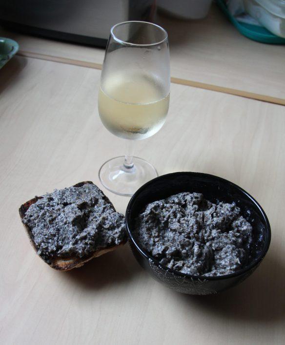 Tartinade de champignons et parmesan