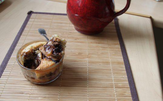 Clafoutis aux nectarines, chocolat et lait de coco