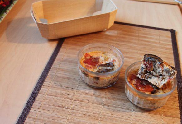 Flan de champignons, tomate & emmental