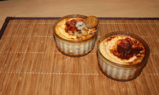 Crèmes aux oeufs parmesan & châtaigne