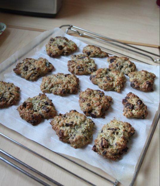 Cookies à la courgette râpée et pépites de chocolat