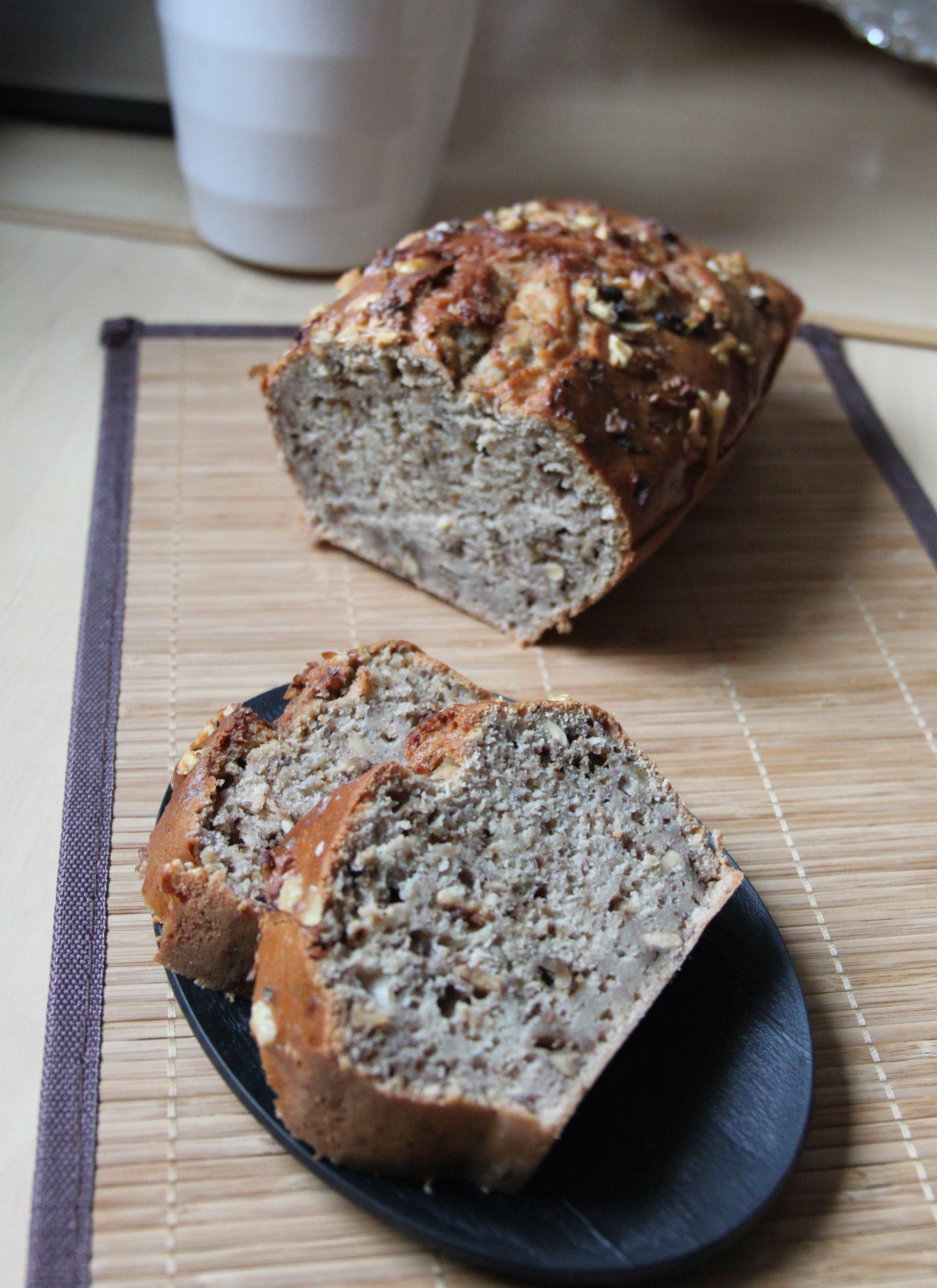 Banana bread à la farine de sarrasin