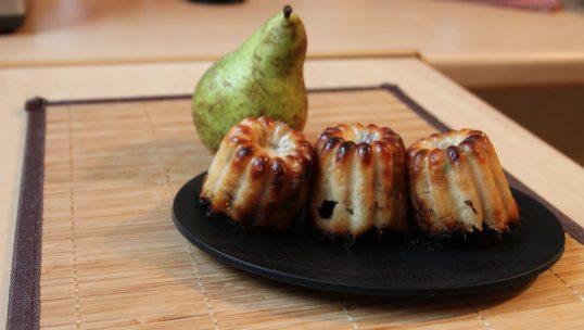 Cannelés au gorgonzola et poire