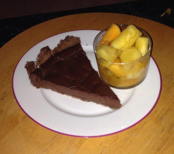 Tarte vegan marron & chocolat