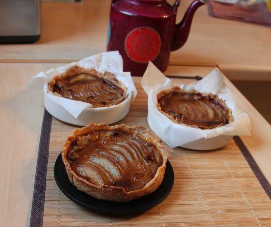 Tartelette flan caramel aux poires