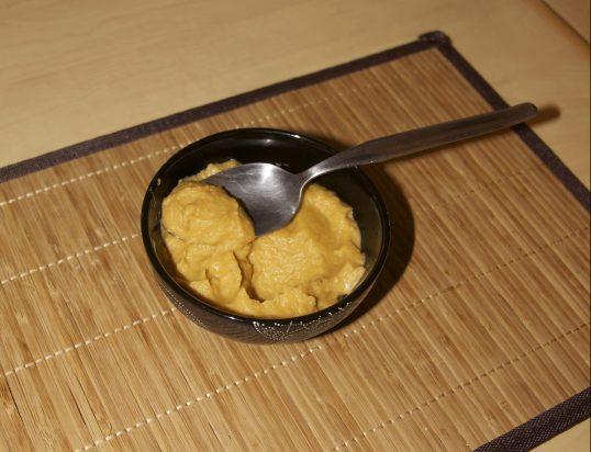 Purée de patate douce et panais