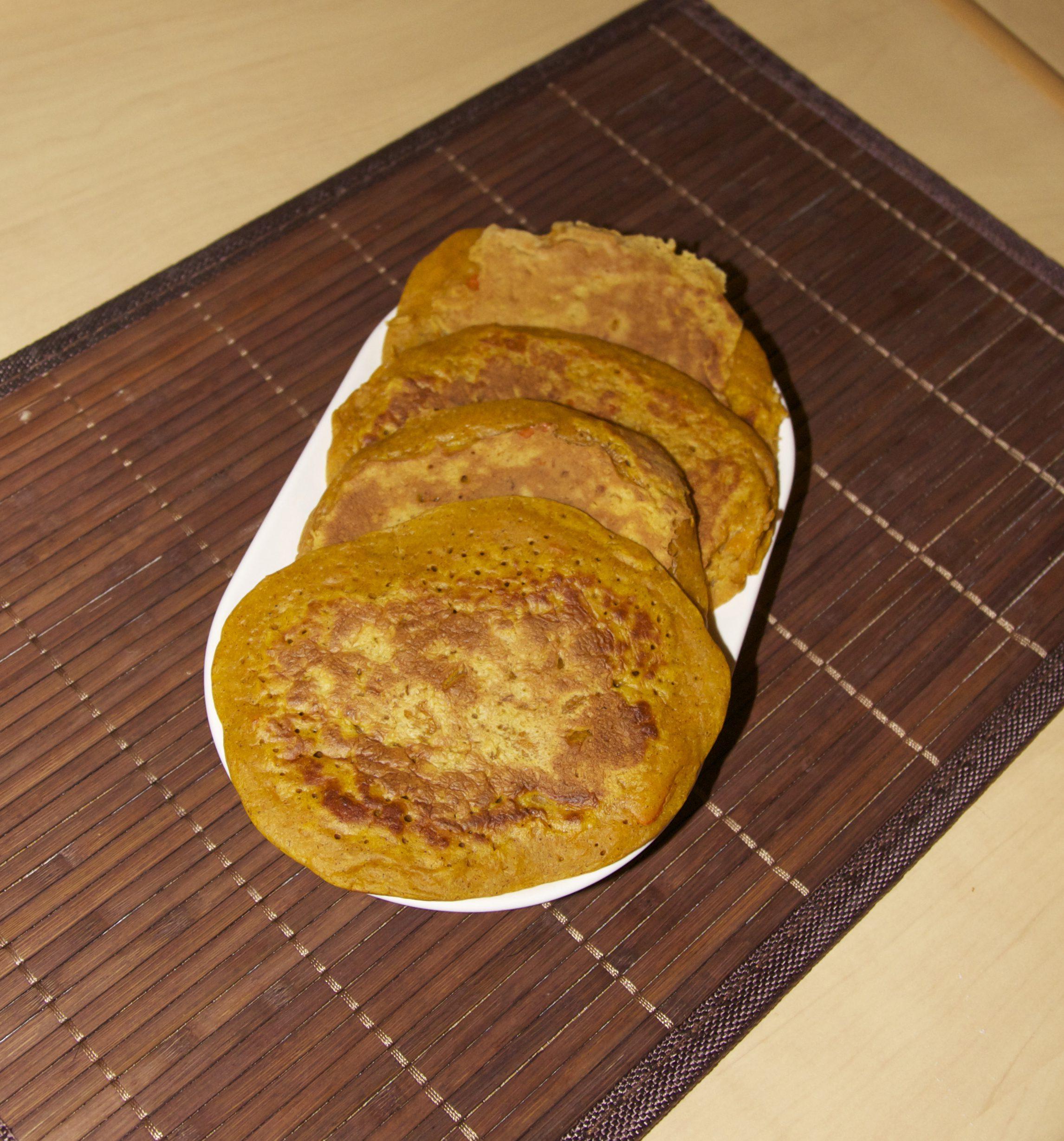 Pancakes au potimarron & crème de coco