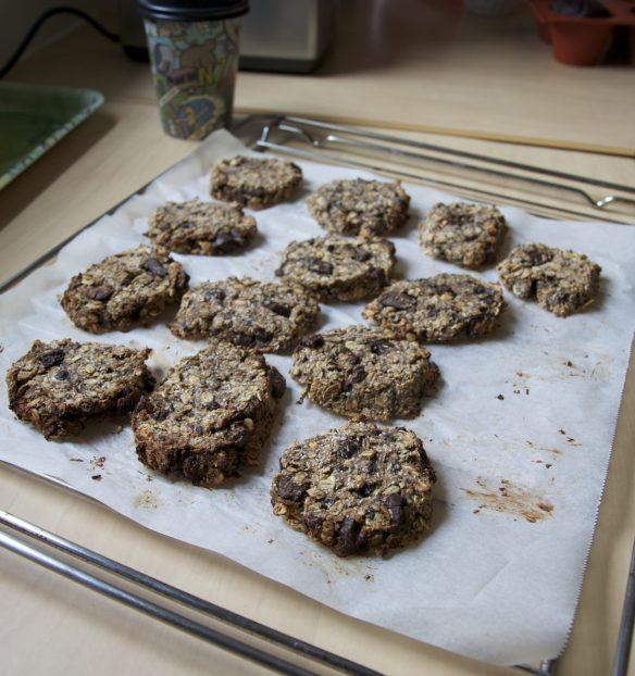 Cookies moelleux banane, noix de coco & pépites de chocolat